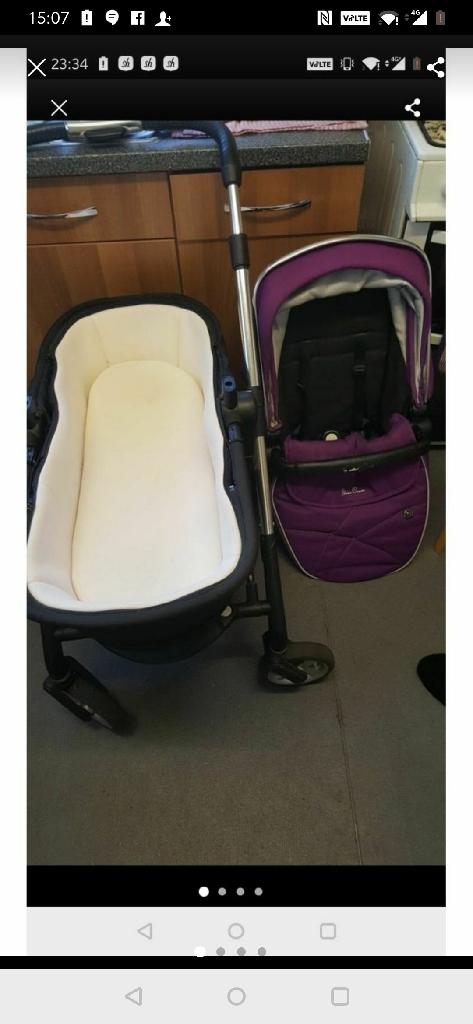 Silvercross pushchair purple
