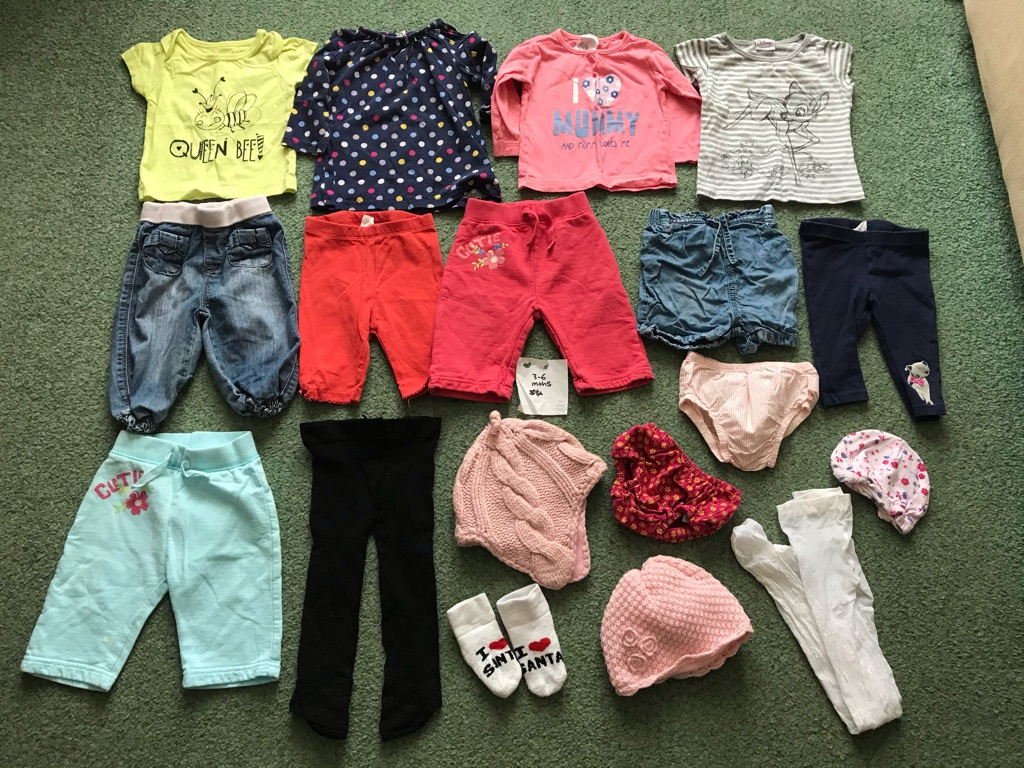 3 to 6 months girls clothes free lot of 6 to 9 months