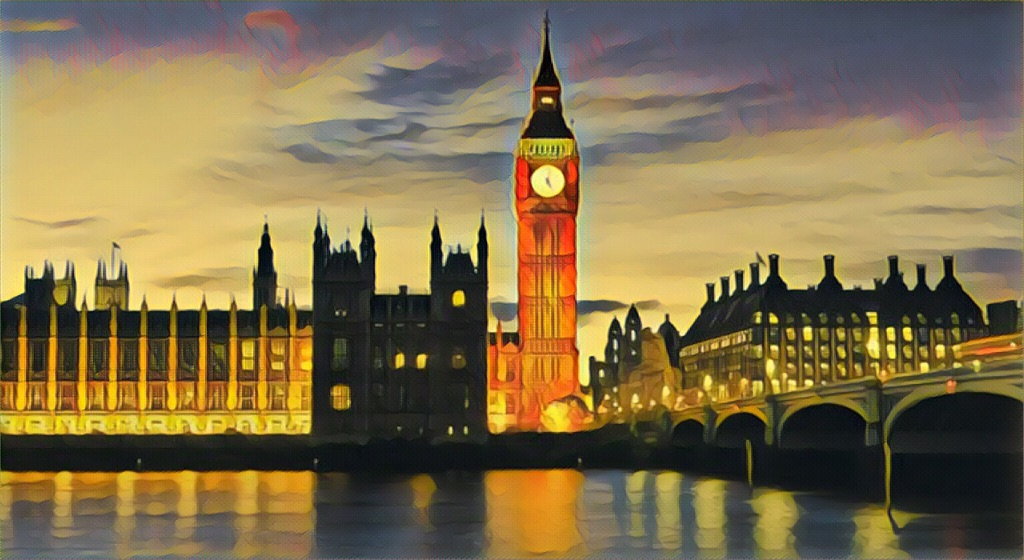 Londons Big Ben skyline canvas print wall hanging