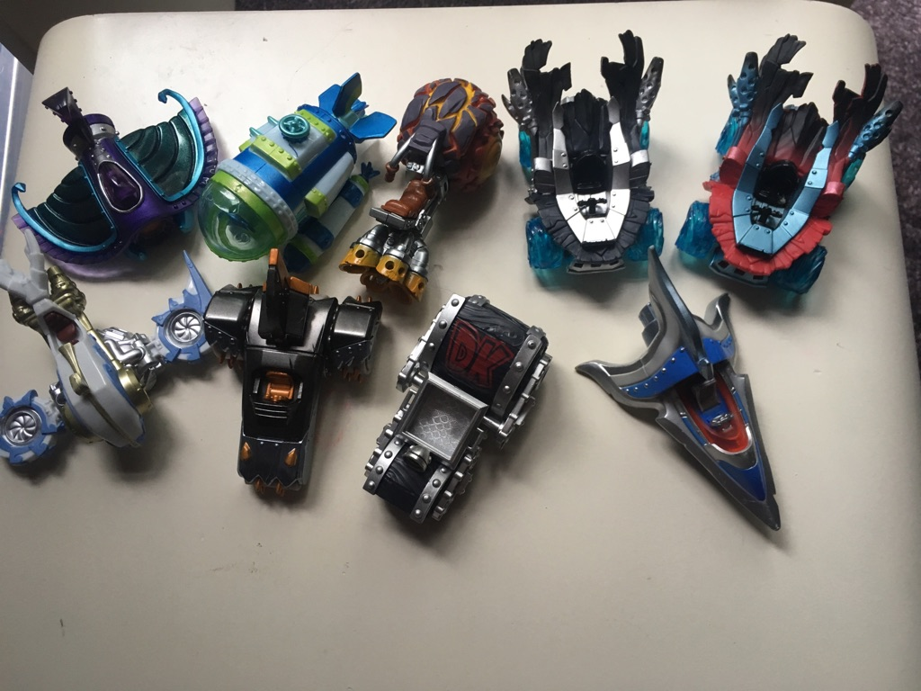 Super chargers skylanders and vehicles.