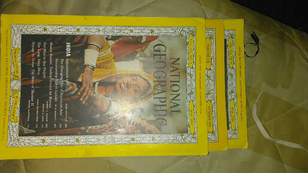 Old National Geographic mags