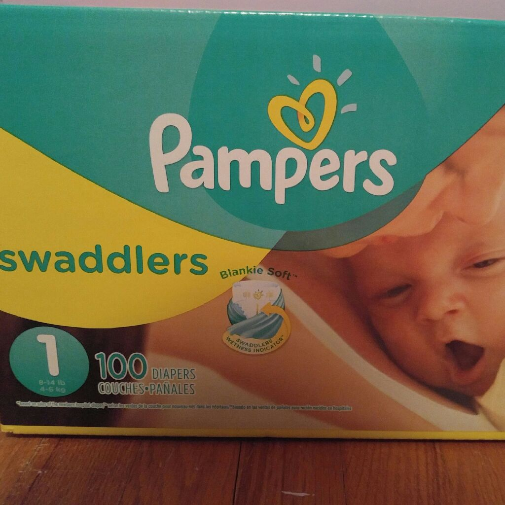 Pampers swaddlers 2 100 pack boxes