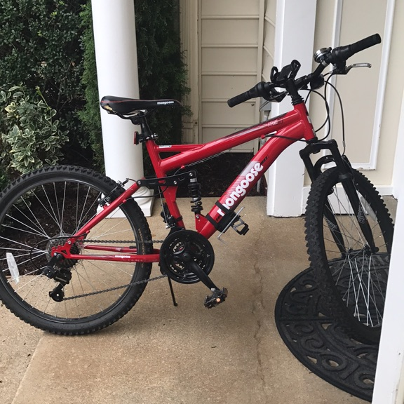 Red mongoose bike