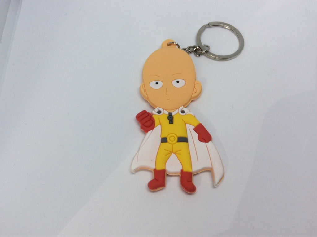 One Punch Man Saitama Keyring