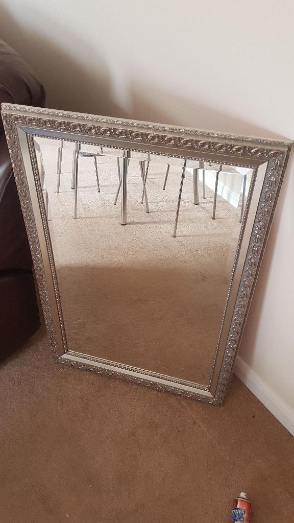 Silver framed chilli mirror
