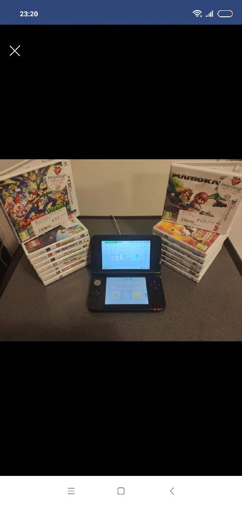 Nintendo 3DS XL silver plus 14 bags bundle