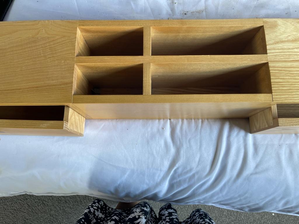 Solid wood desk tidy
