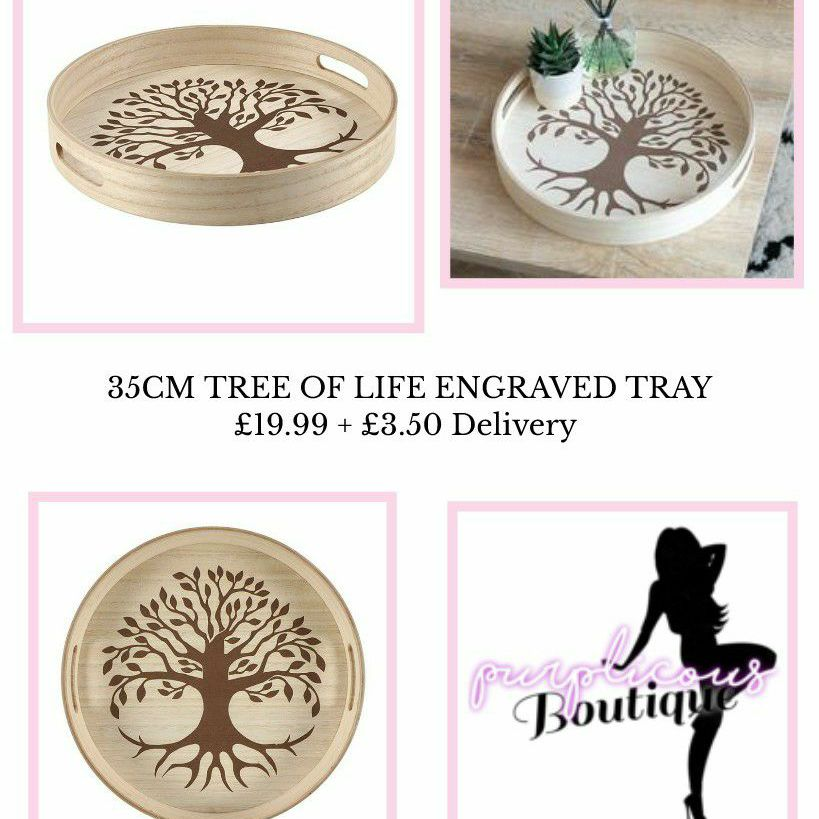 35CM TREE OF LIFE ENGRAVED TRAY💥