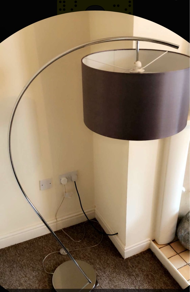 Floor curved grey lamp