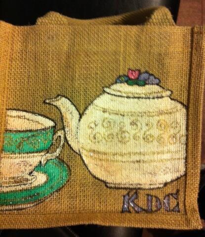 Painted shopping bag workshop