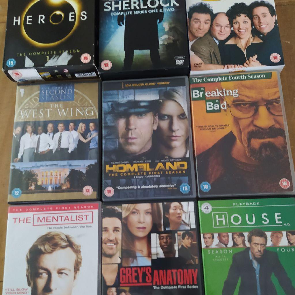 Bundle of DVD box sets, 11 seasons on 9 DVDs boxset