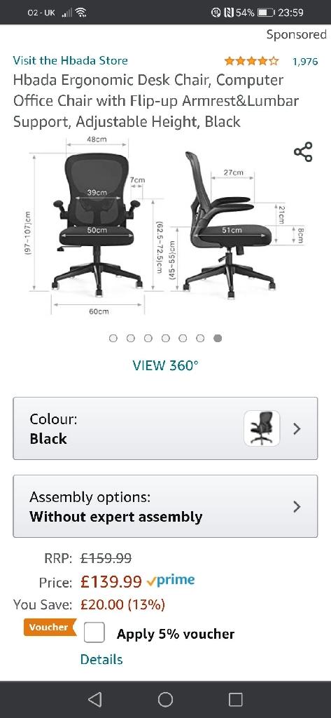 Brand New Ergonomic Desk Chair