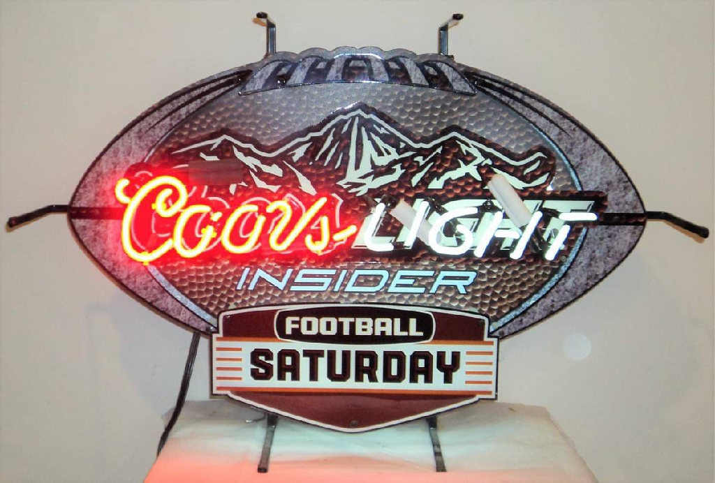 Coors Light Insider Football Saturday Neon Light Bar Sign 2011