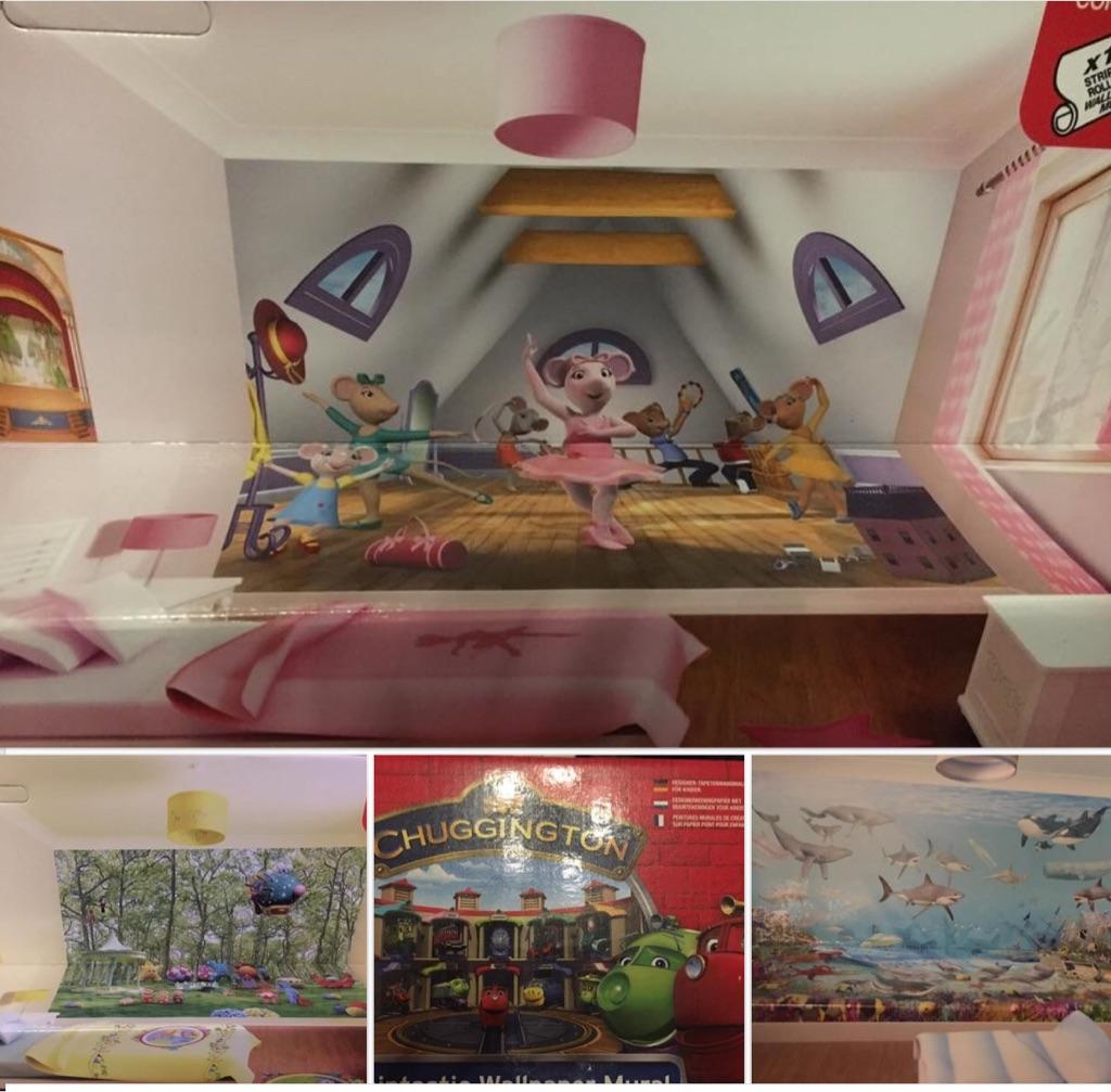 Kids Walltastic mural 10x8 so fills a wall Angelina Ballerina