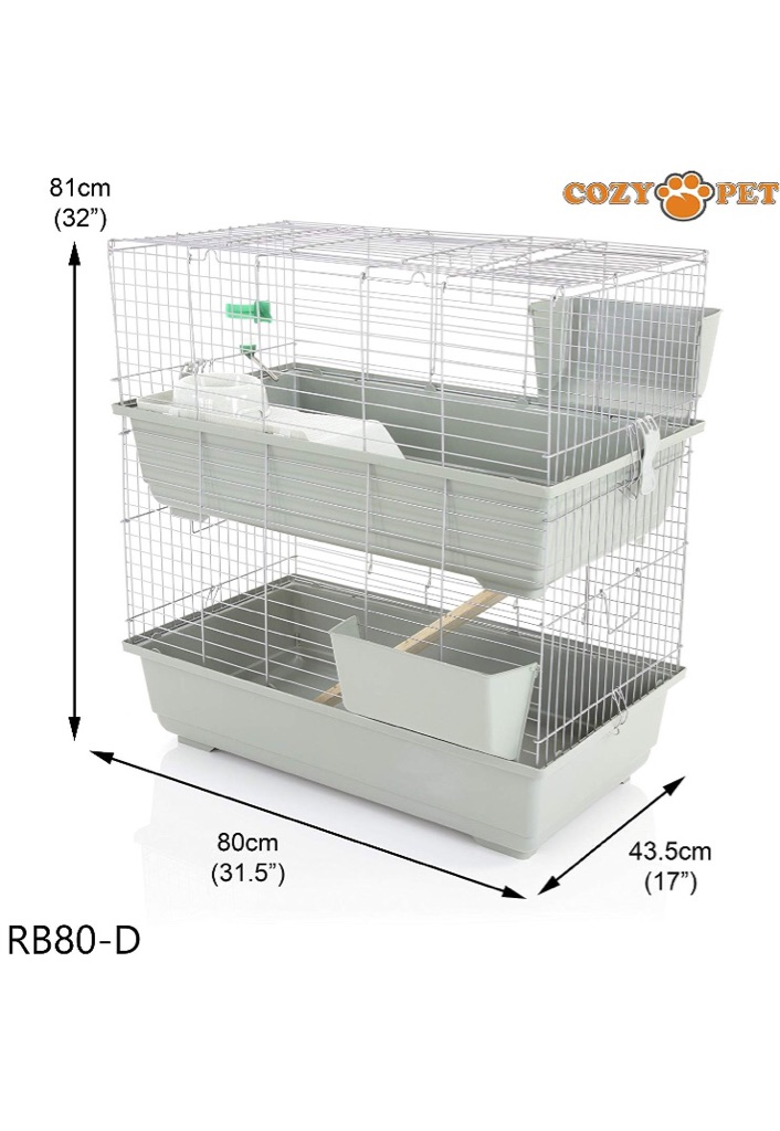 Two storey guinea pig cage