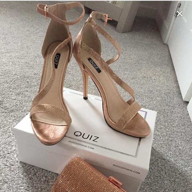 Quiz rose gold shoes size 8