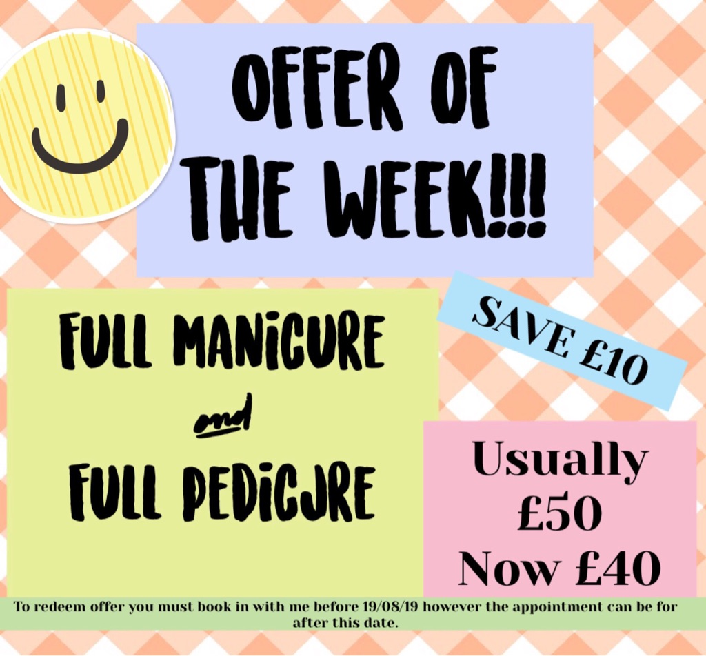 Special offer full gel manicure and pedicure
