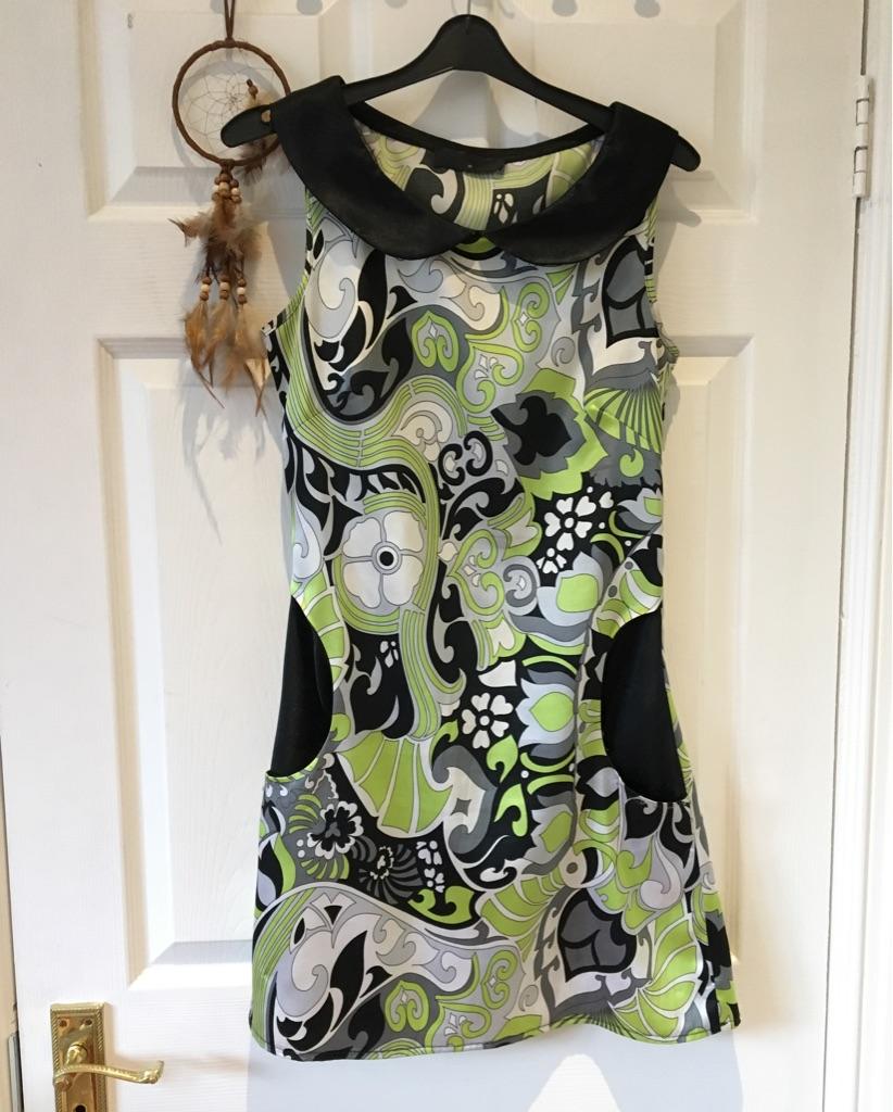 Patterned Silk Mini Dress