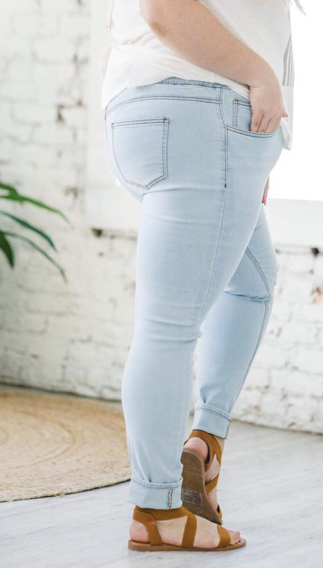 Curvy denim joggers 20% off using my code below