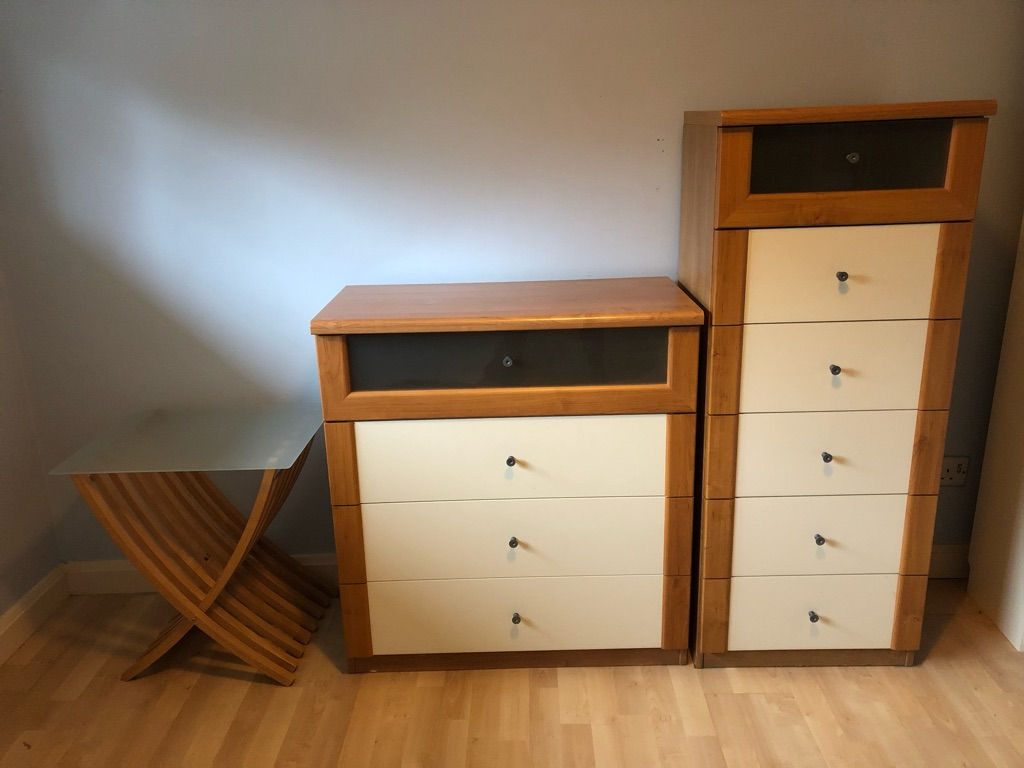 Ikea drawers and bedside table