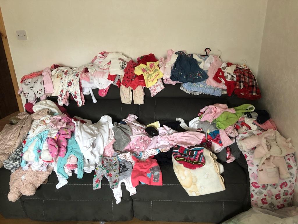 Baby girls clothes size newborn, 0-3,3-6