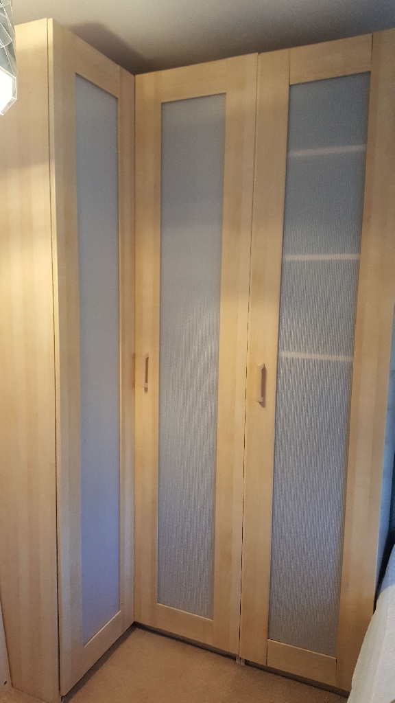 IKEA PAX Corner Wardrobe and 500mm unit