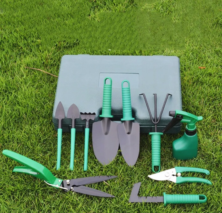 10 PCS GARDENING TOOL SET AND CASE - free delivery