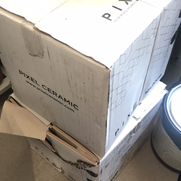 2 boxes of (10cm x 20cm) bevelled tiles