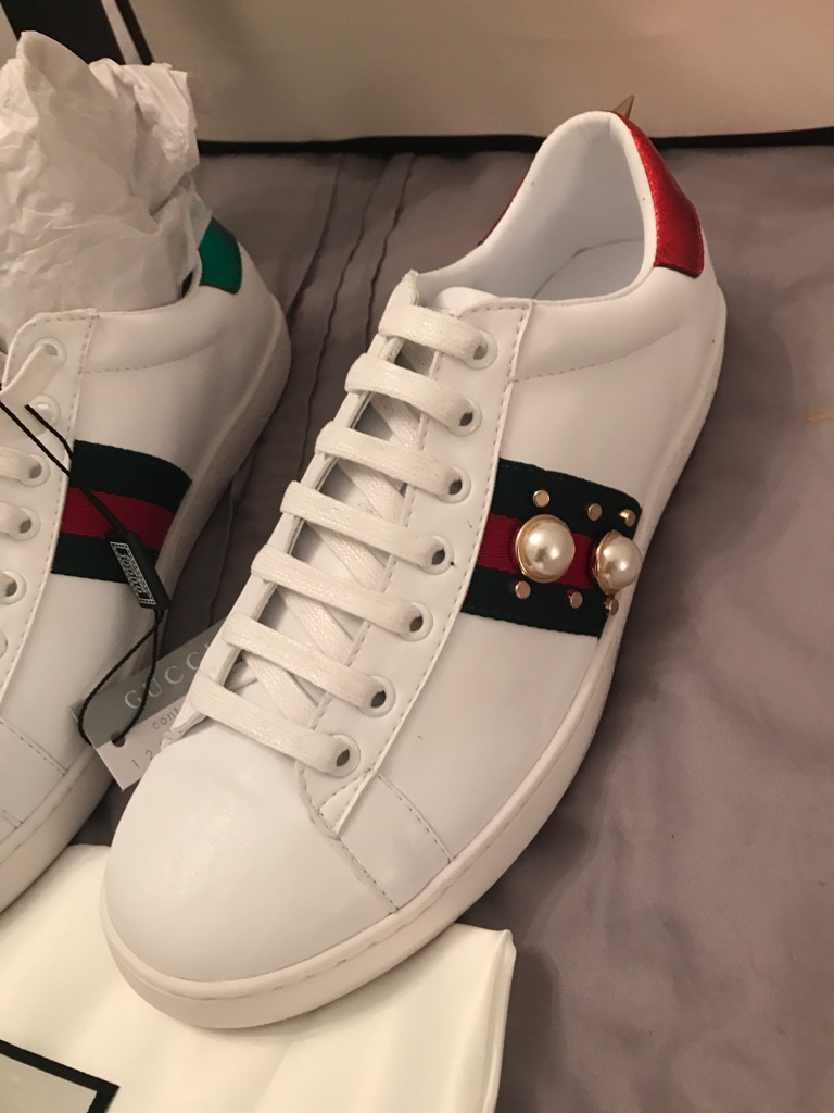 Gucci Ace Pearl trainers Size38 /5