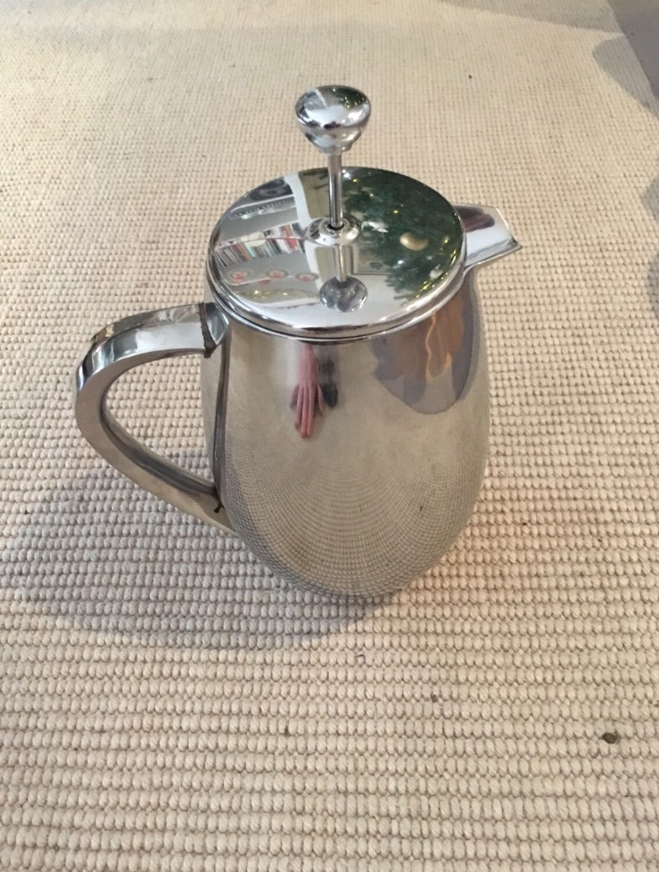 Metal insulated cafetière