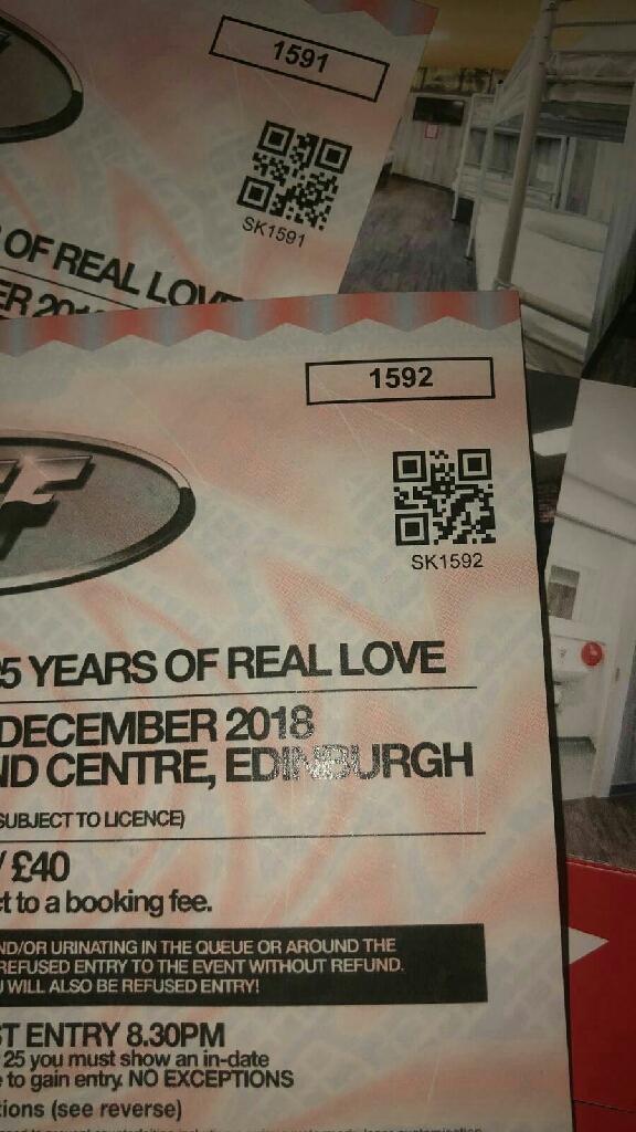 2 x concert tickets for ingleston
