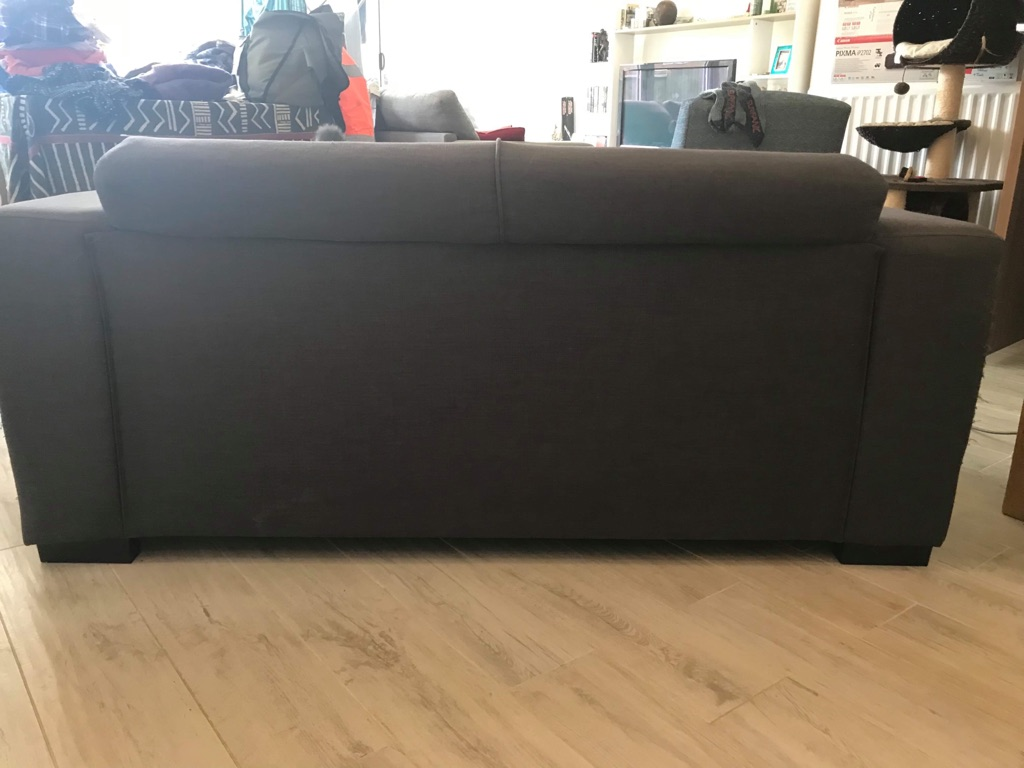 Free! Charcoal grey 2 seater sofa