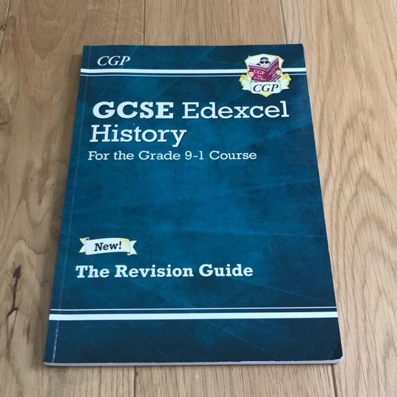 GCSE EDEXCEL HISTORY CGP REVISION GUIDE