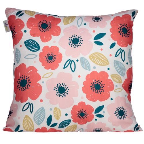 Cushion with insert- poppies design 50 x 59cm