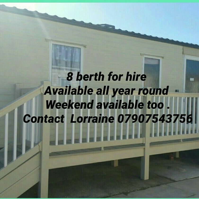 8 berth 3 bedroom static caravan for hire at lyons robinhood site rhyl