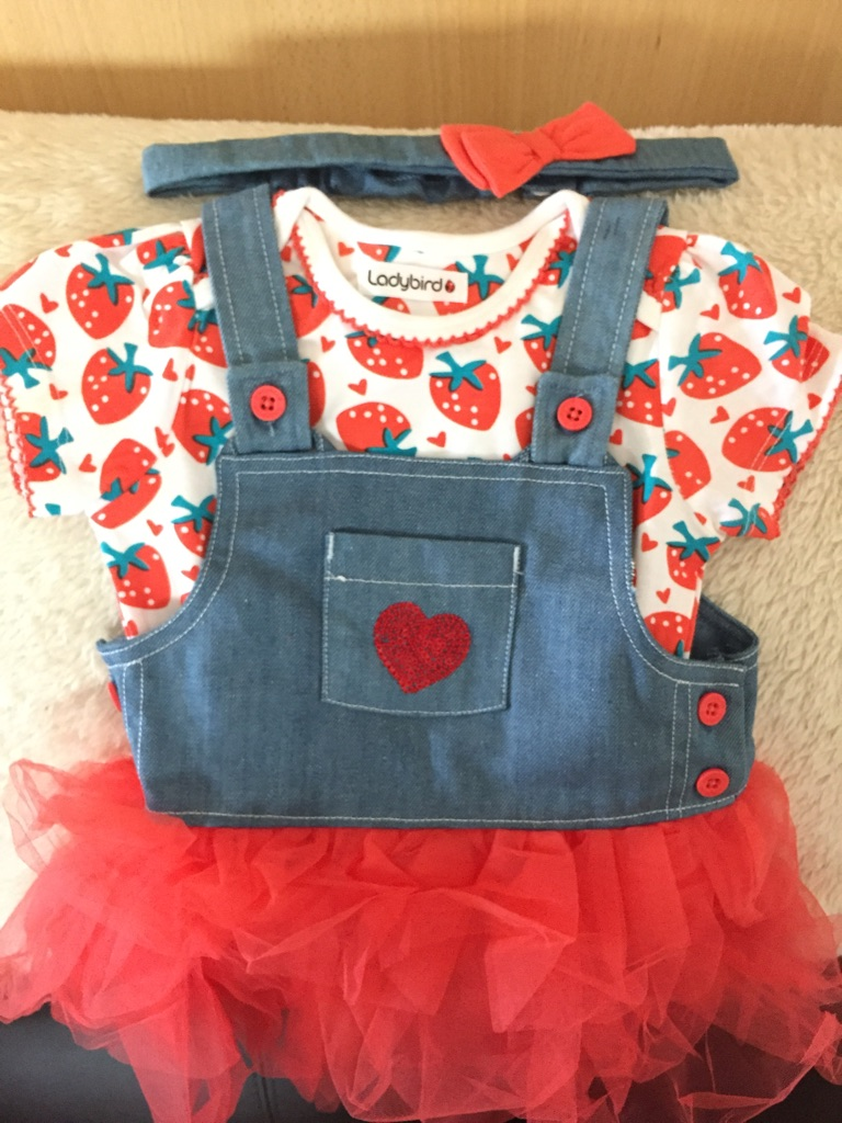 Brand new LADYBIRD denim tutu 3 piece set £10