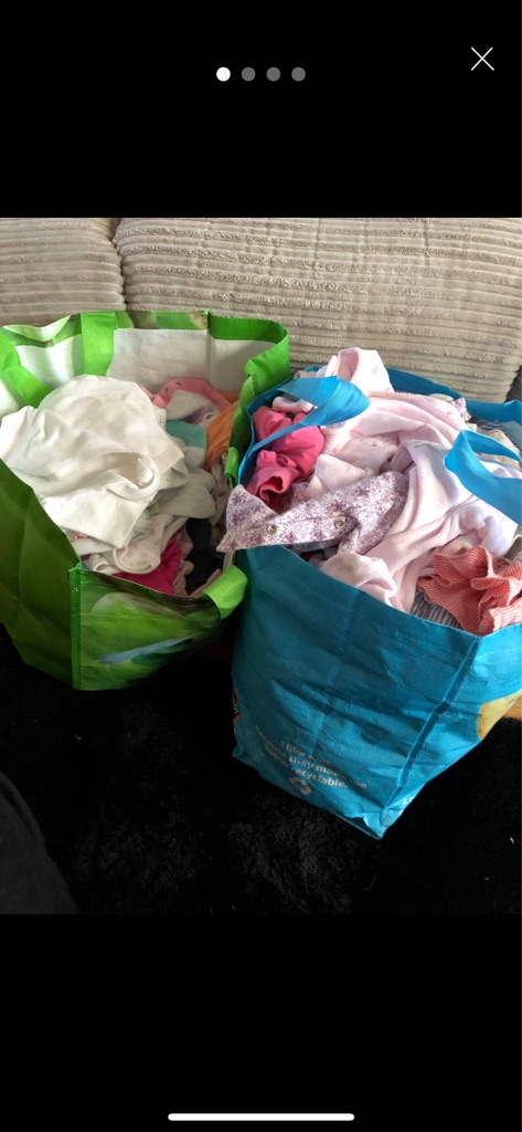 Extra large bundle of 3-6 months baby girl clothes