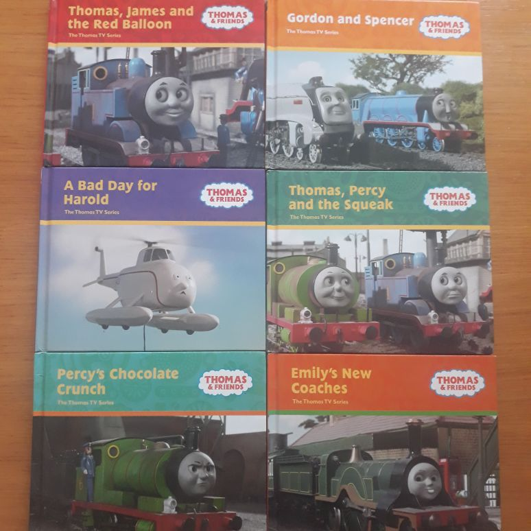 6 x Thomas and friends books