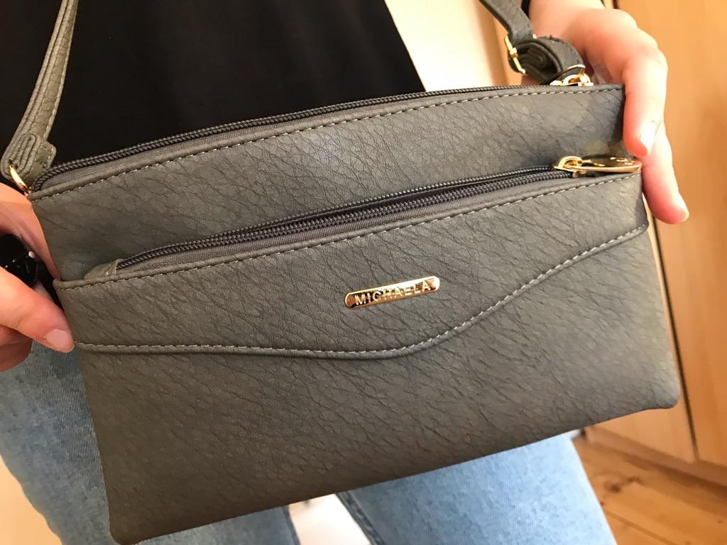Cross body grey woman's bag