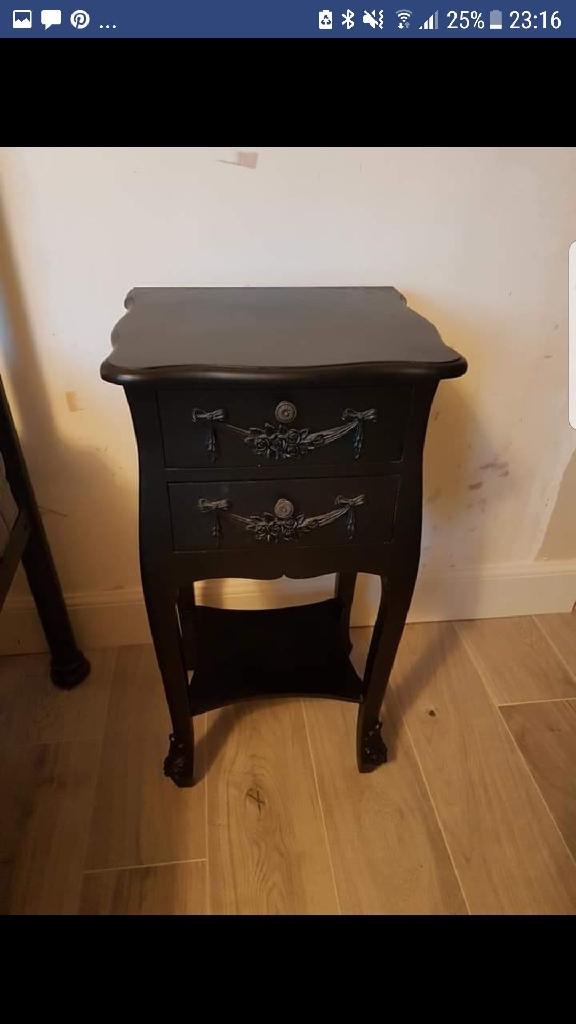 2x dunelm bedside tables