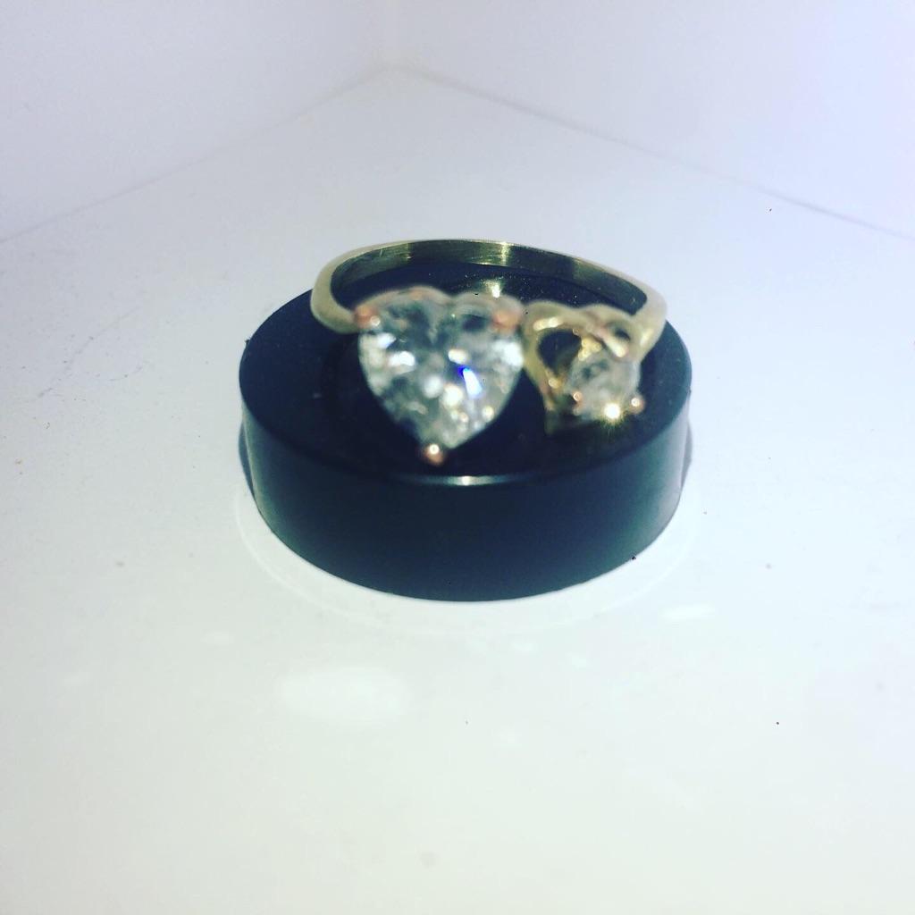 Twin Love Heart Ladies Ring