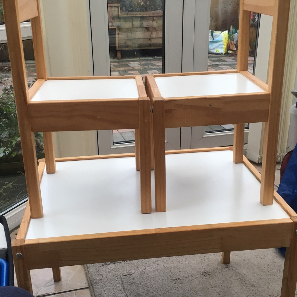 Child's Ikea table and chairs