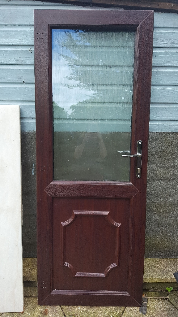 UPVC Rose Mahogany door and frame
