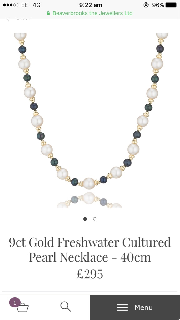 9ct gold necklace and bracelet