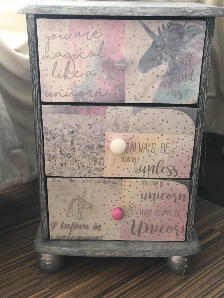 OFFERS-UPCYCLED UNICORN DRAWERS