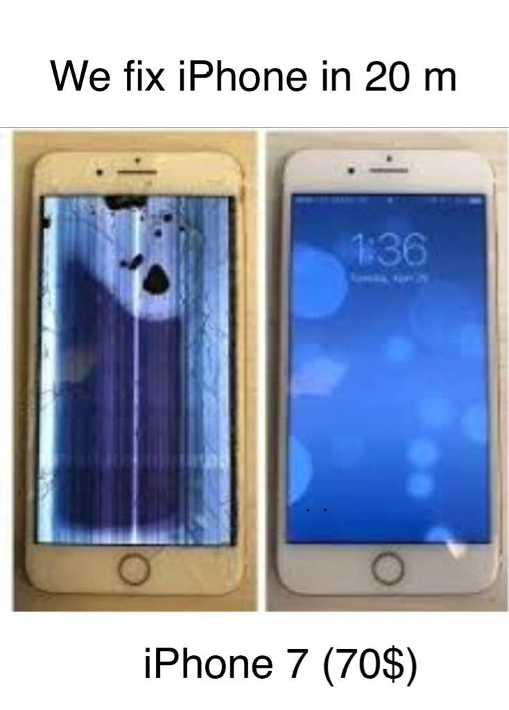 We fix iPhone lcds look at my price