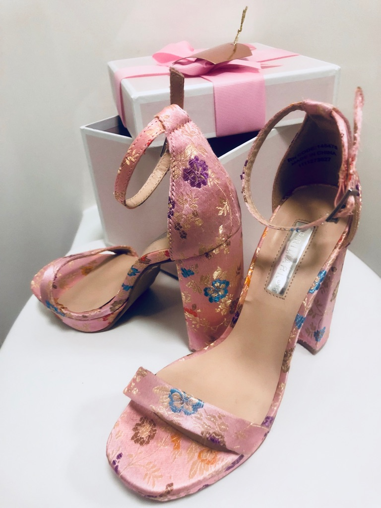 Primark Pink Lace Up High Heel Shoes