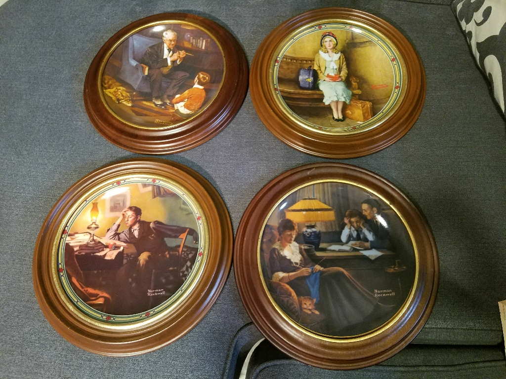 Norman Rockwell's collectors plate series