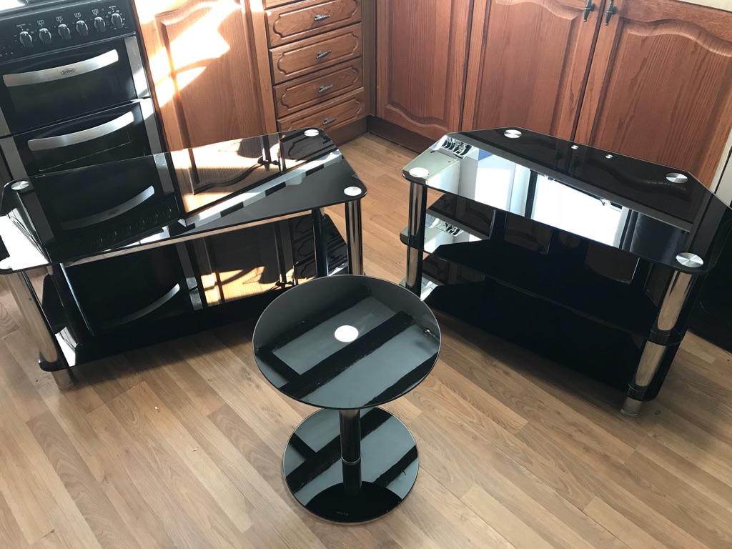 Black Glass Lounge Furniture