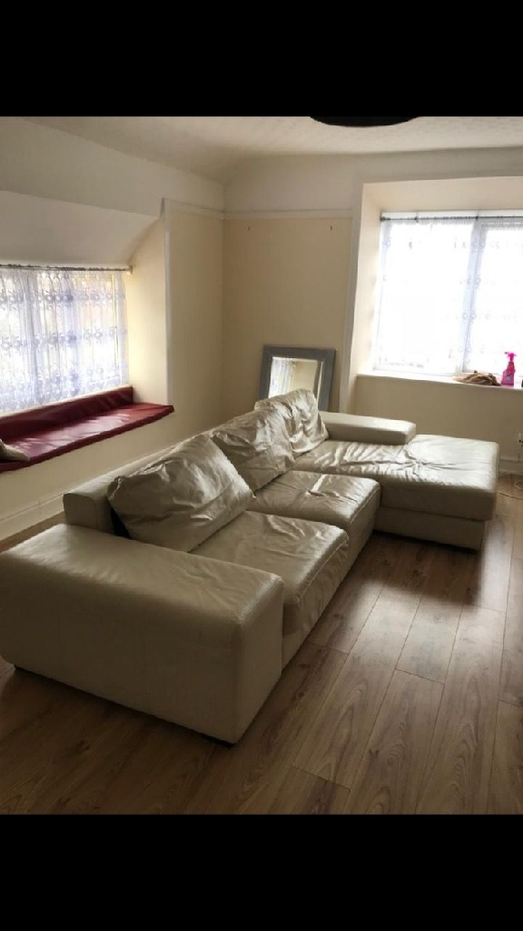 White leather sofa for sale